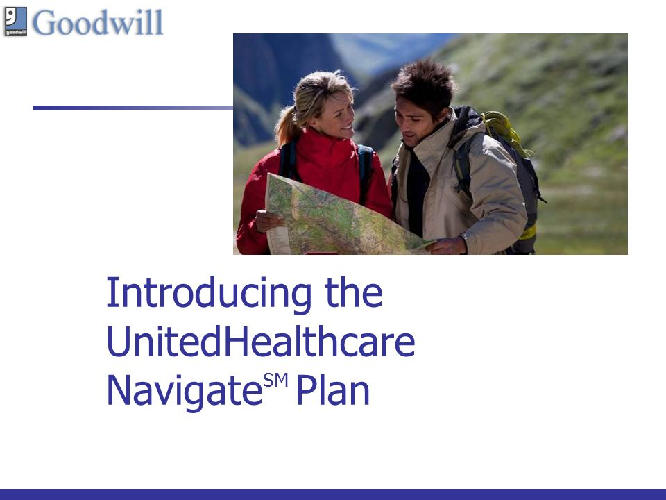 Introducing the UnitedHealthcare Navigate SM Plan Cover area with cropped image.