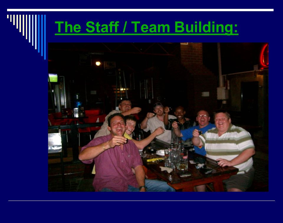 The Staff / Team Building: