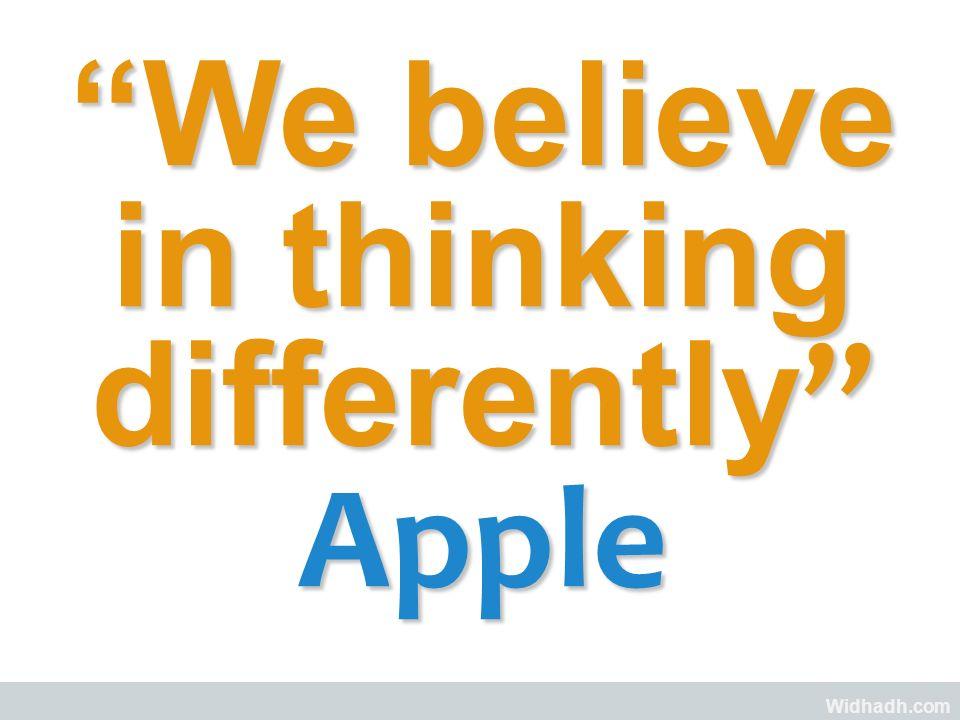 Widhadh.com We believe in thinking differentlyWe believe in thinking differently Apple