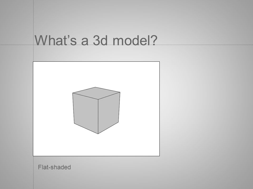 Whats a 3d model? Flat-shaded