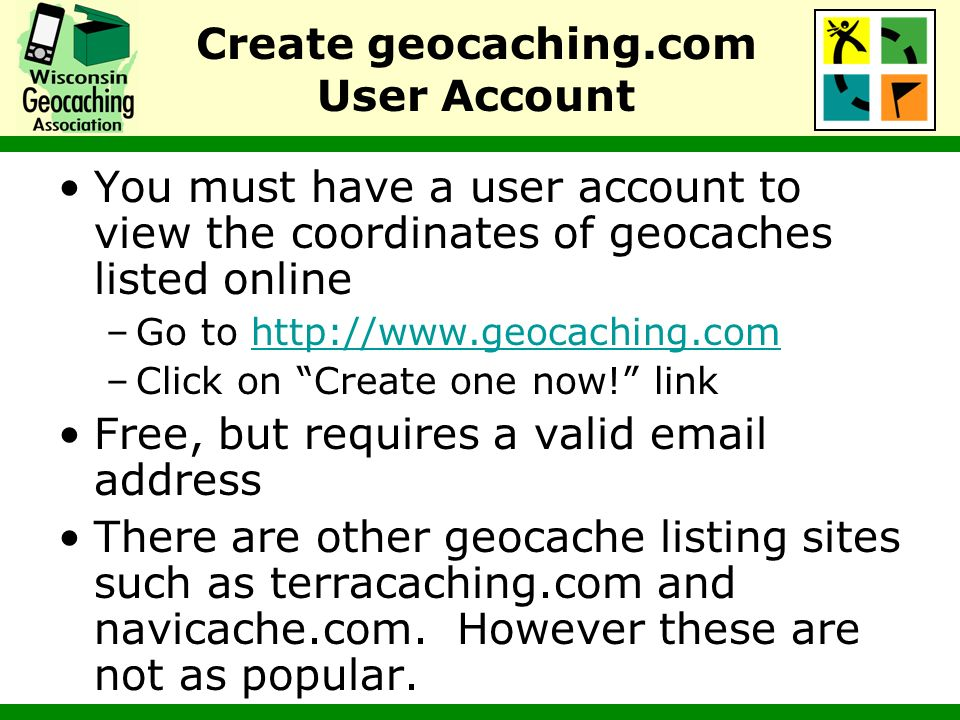 Search For Nearby Geocaches There are many ways to search the geocaching.com database of geocaches Easiest is to enter your zip code (or the zip code of the place you will be visiting) on the geocaching.com home page Obtain a listing of nearby geocaches, sorted by distance from the zip code center