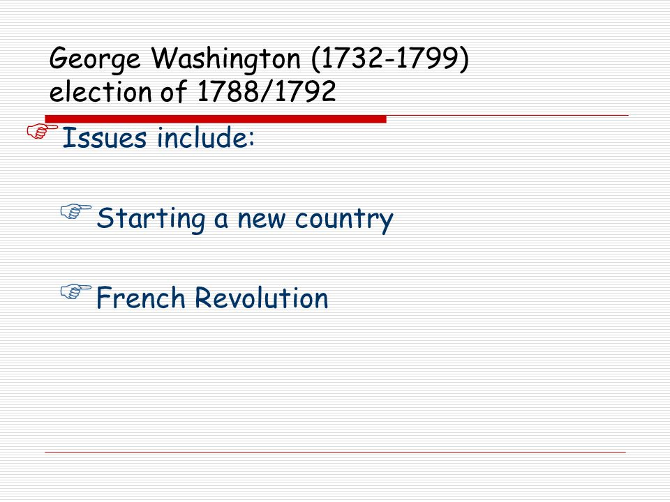 Issues include: Starting a new country French Revolution