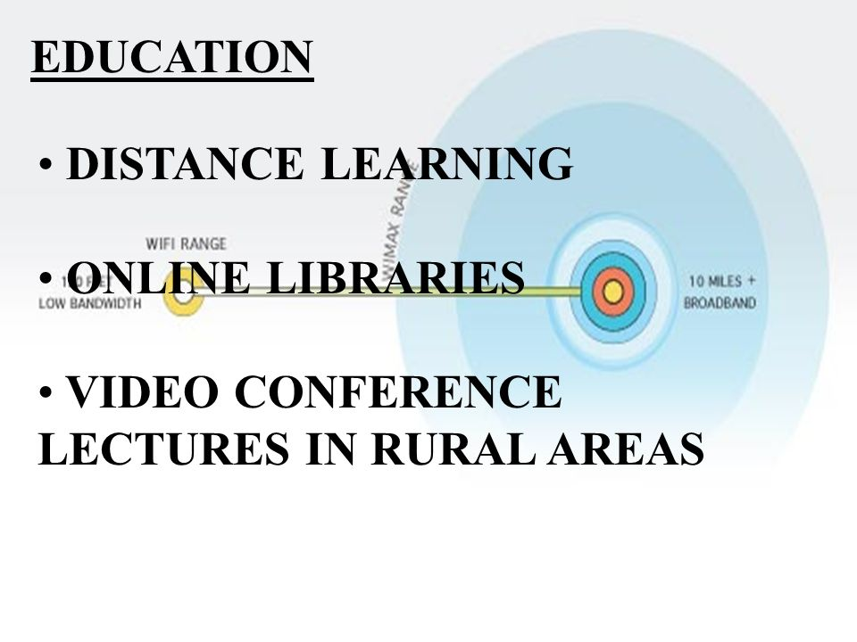 EDUCATION DISTANCE LEARNING ONLINE LIBRARIES VIDEO CONFERENCE LECTURES IN RURAL AREAS