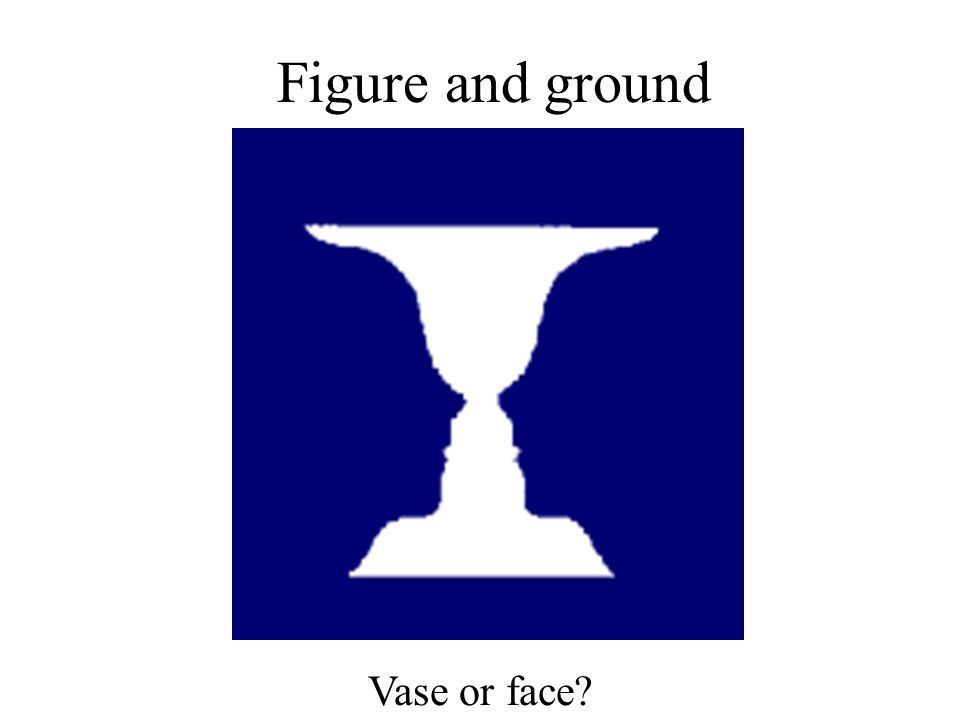 Figure and ground Vase or face?