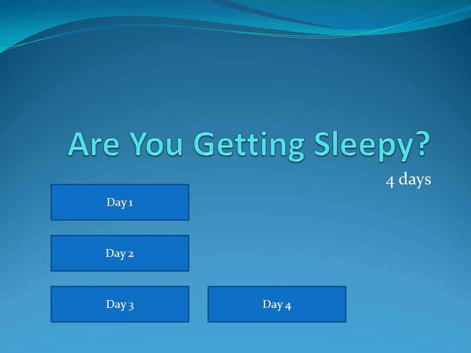 Are you Getting Sleepy.