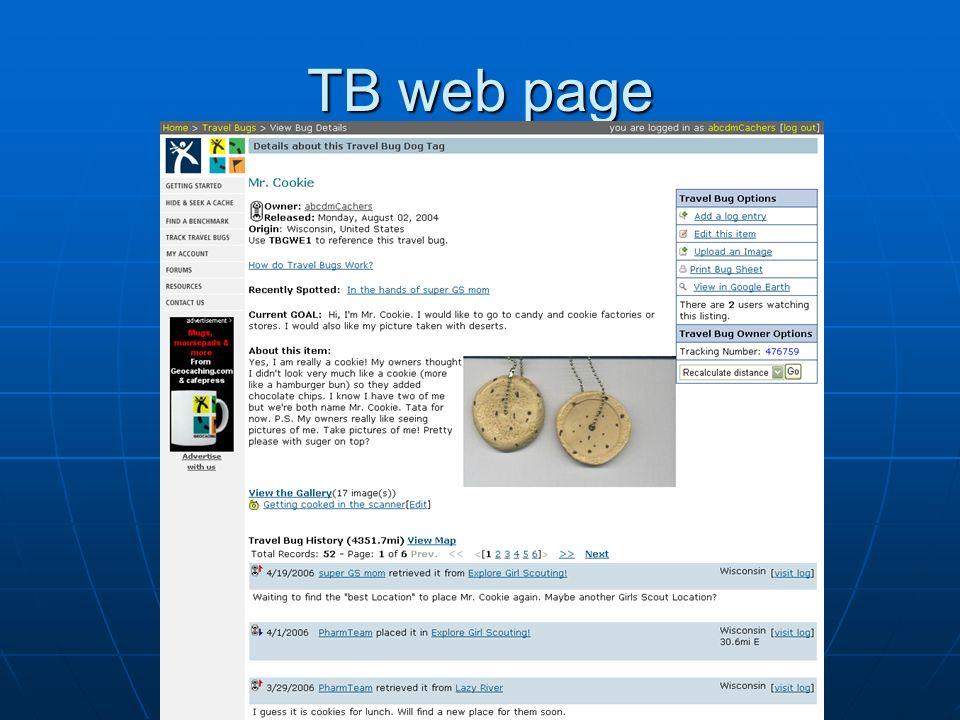 TB web page