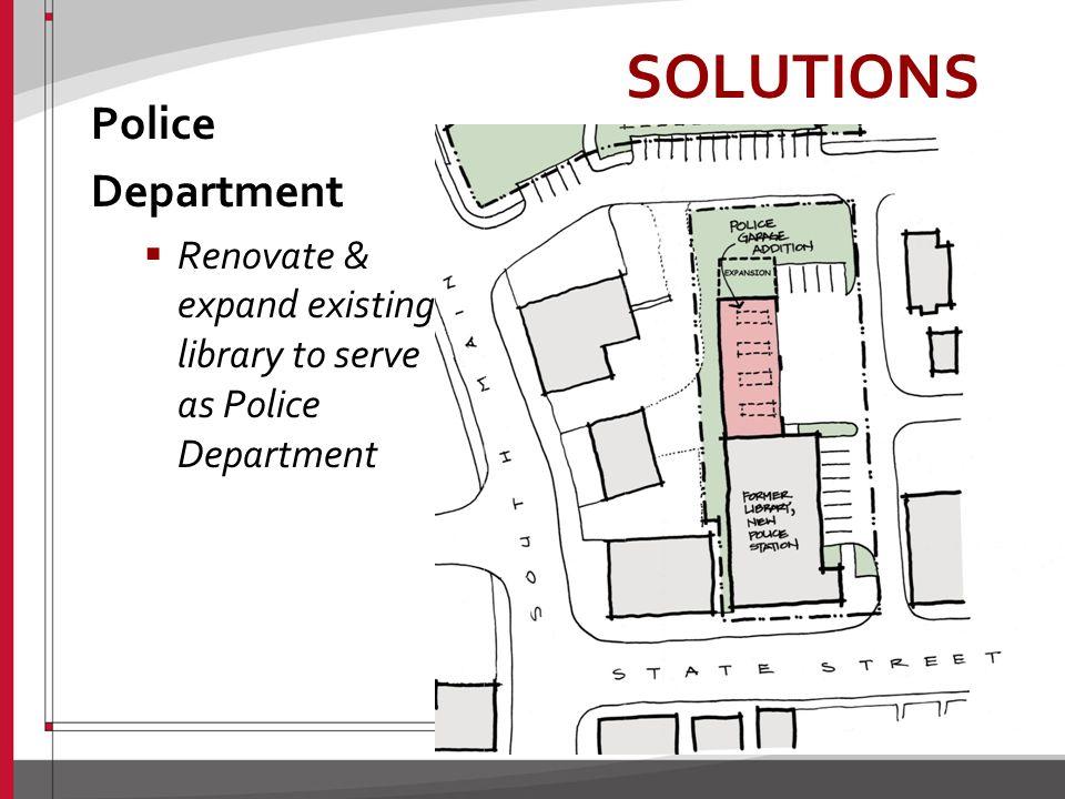 SOLUTIONS Village Services Center Combine Park & Rec. Shop with expanded Public Works shop