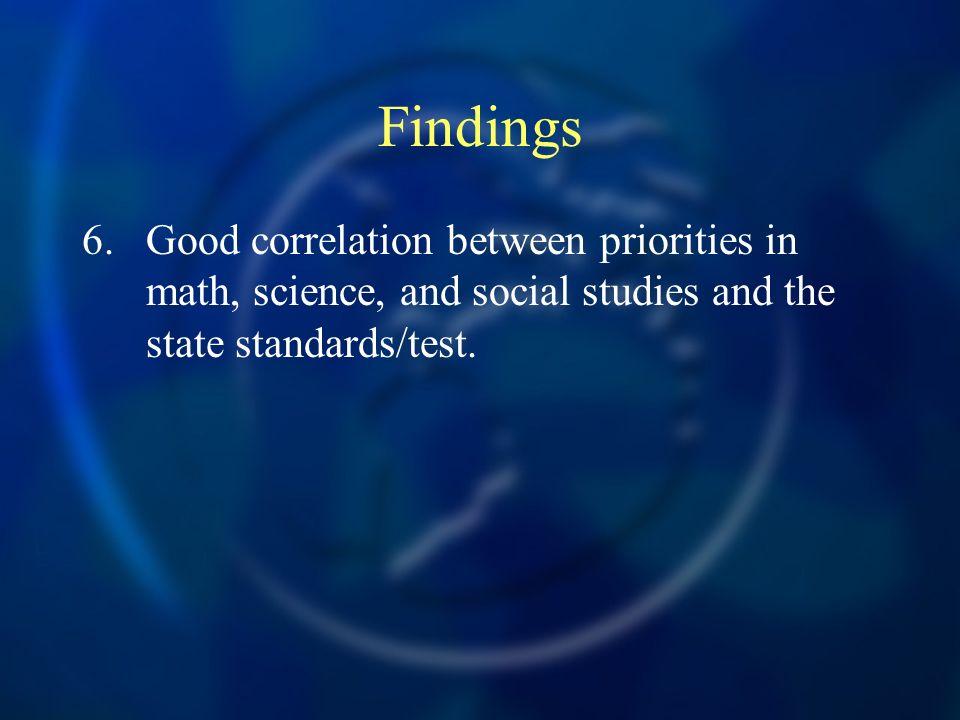 Findings 6.