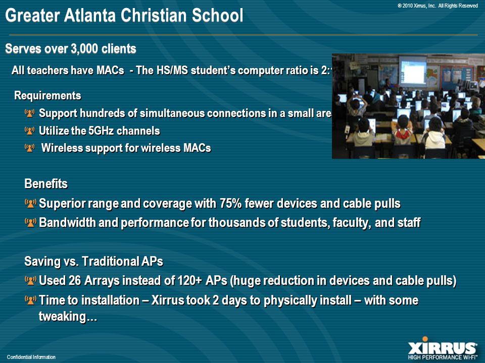 Confidential Information ® 2010 Xirrus, Inc.