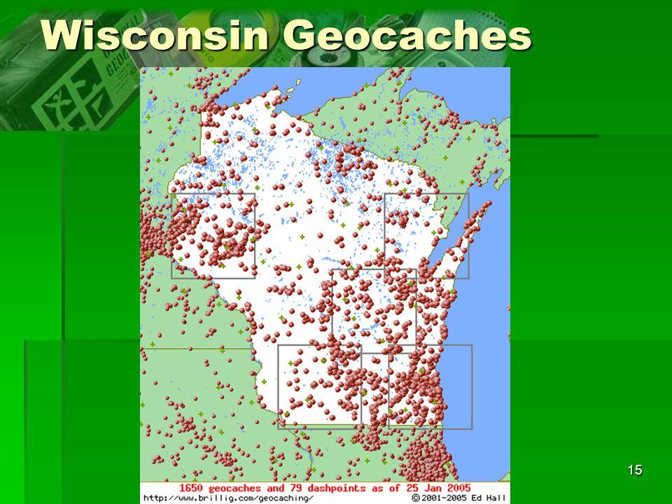 15 Wisconsin Geocaches