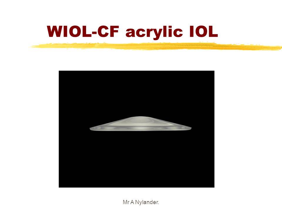 Mr A Nylander. WIOL-CF acrylic IOL