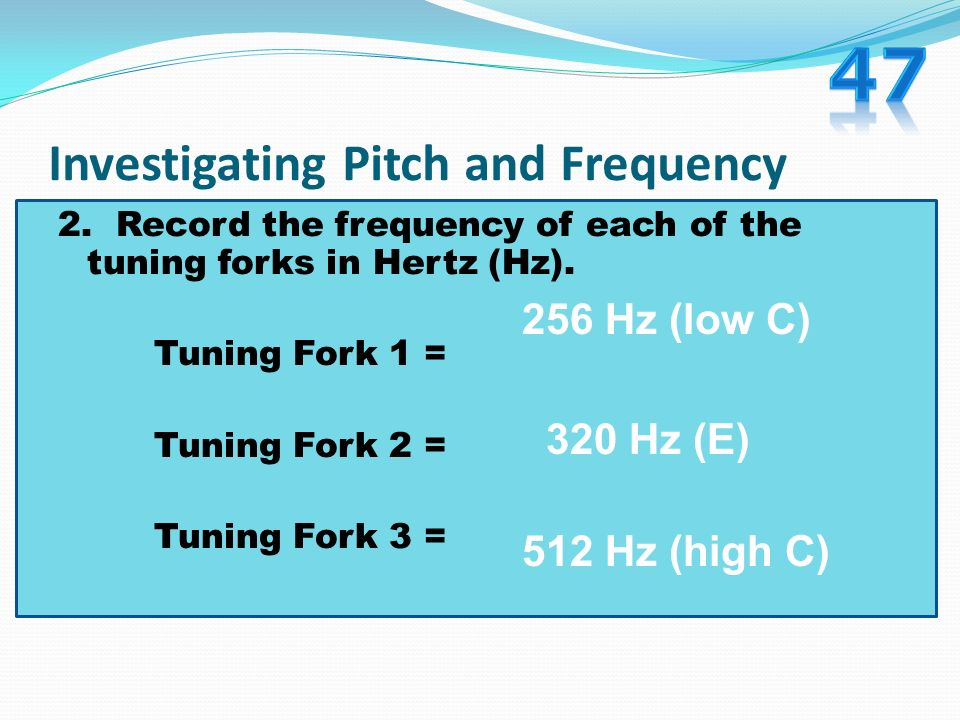 Investigating Pitch and Frequency 4.