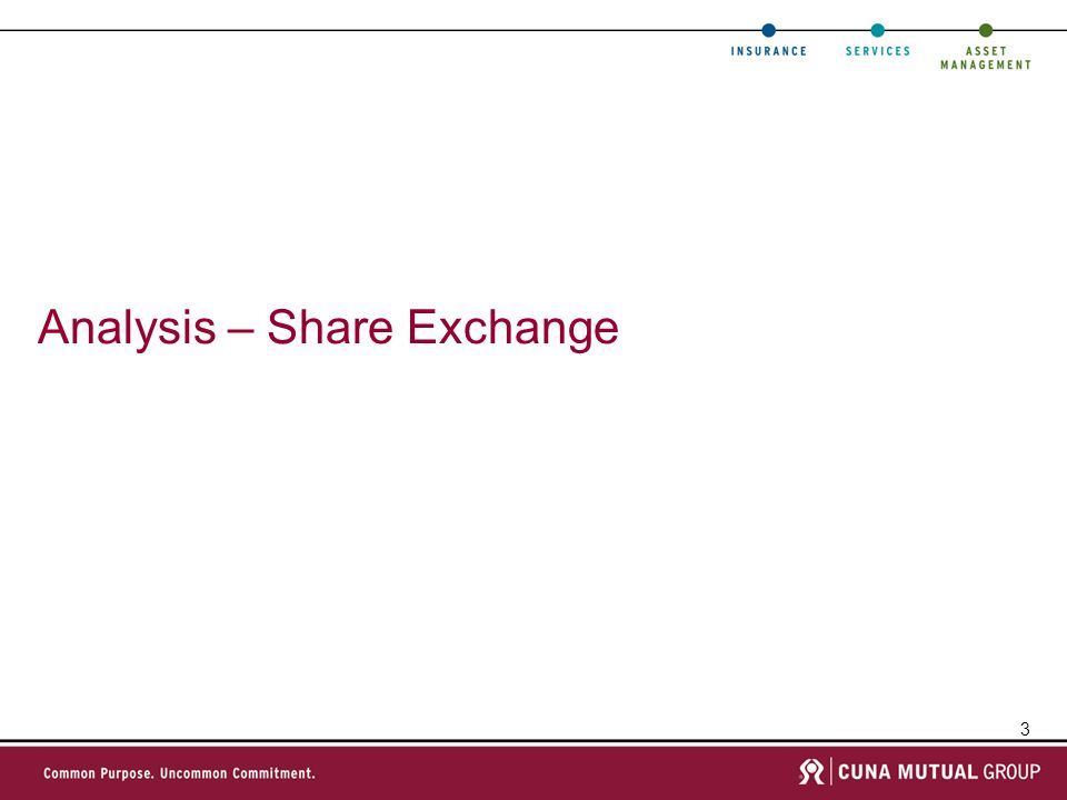3 Analysis – Share Exchange