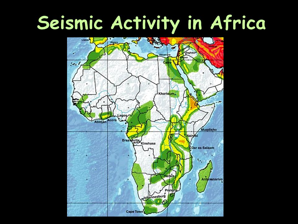 Seismic Activity in Africa