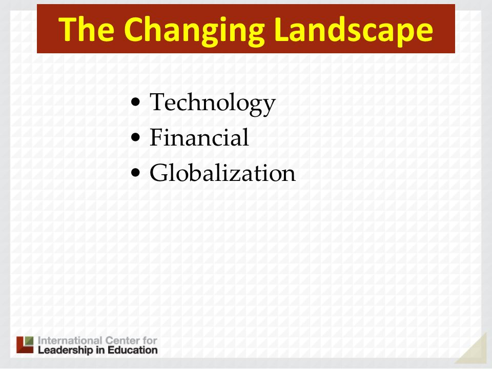 The Changing Landscape Technology Financial Globalization