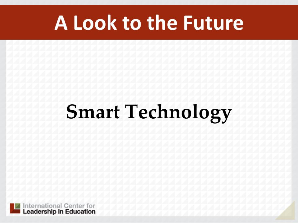 A Look to the Future Smart Technology