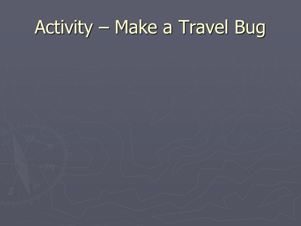 Activity – Make a Travel Bug