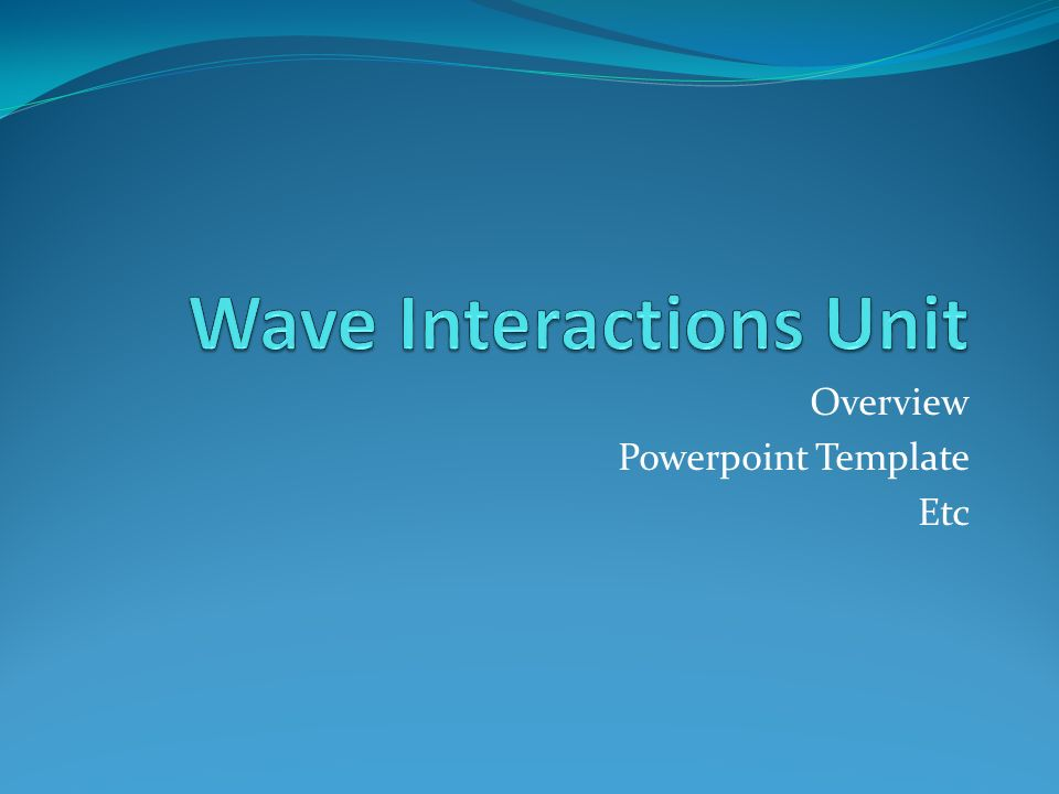 Overview Powerpoint Template Etc