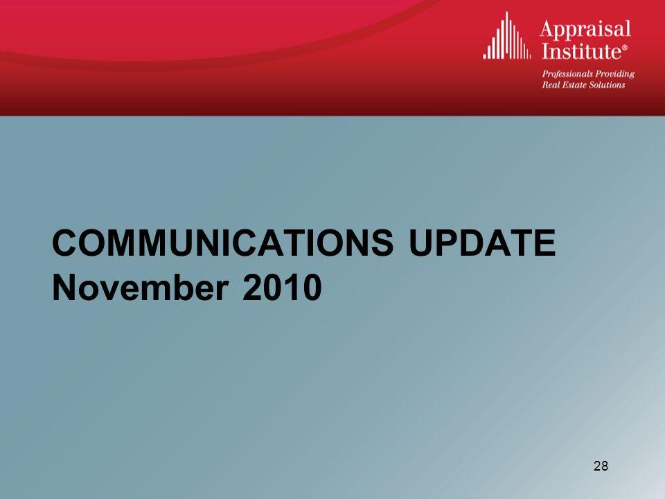 COMMUNICATIONS UPDATE November 2010 28