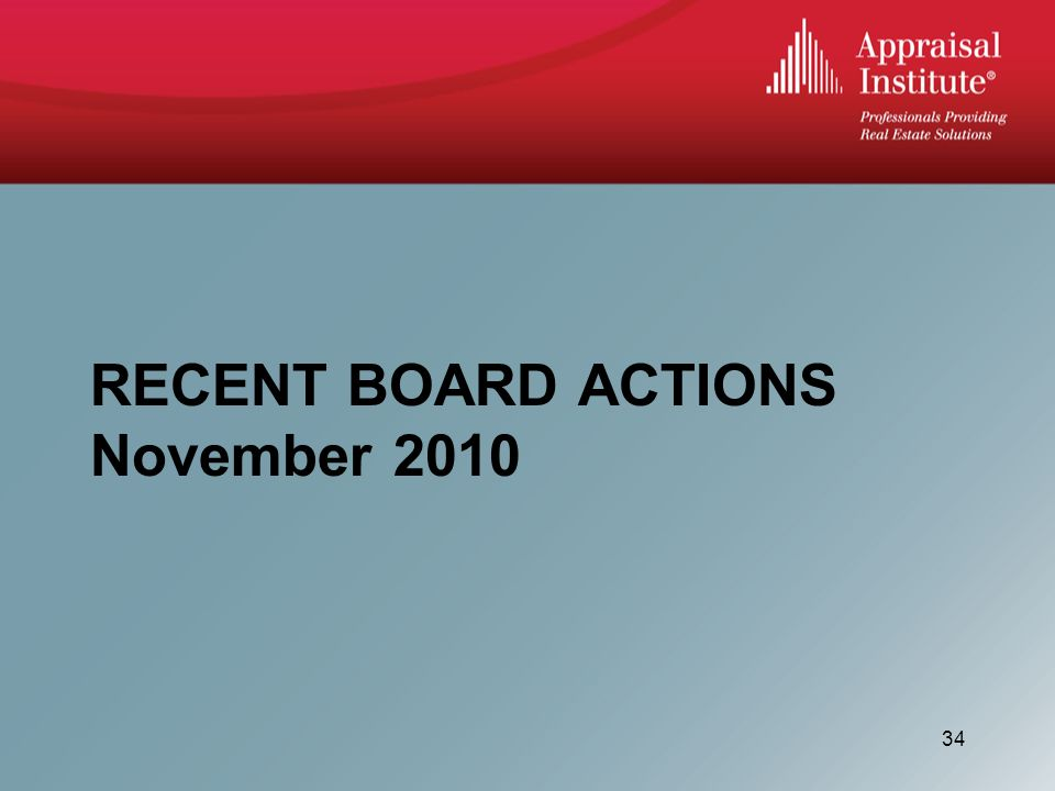 RECENT BOARD ACTIONS November