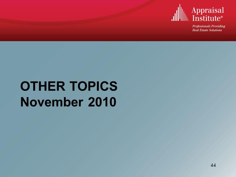 OTHER TOPICS November