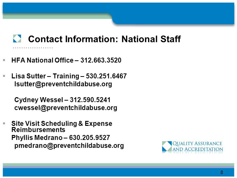 Contact Information: Regional Staff Northeast Region, Region I: – 312.590.4889 Lynn Kosanovich lkosanovich@preventchildabuse.org Southeast Region-Regi