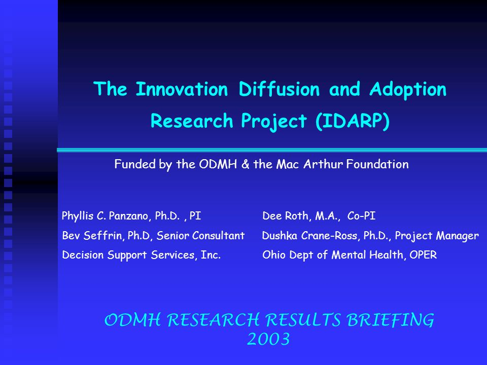 Participating Projects by Stage of Adoption at Time One Implementer De-adopter Adopter Never Wait & see N = 91
