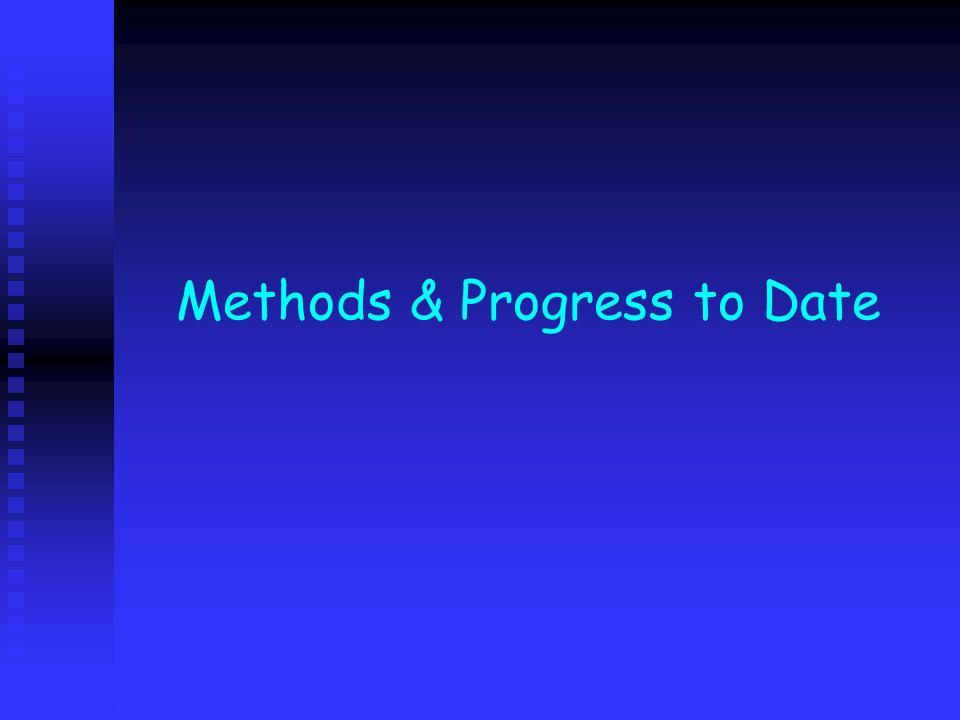 Methods & Progress to Date
