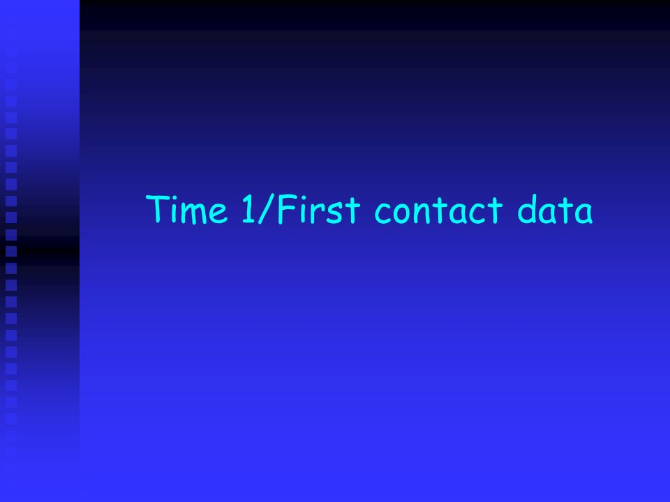 Time 1/First contact data