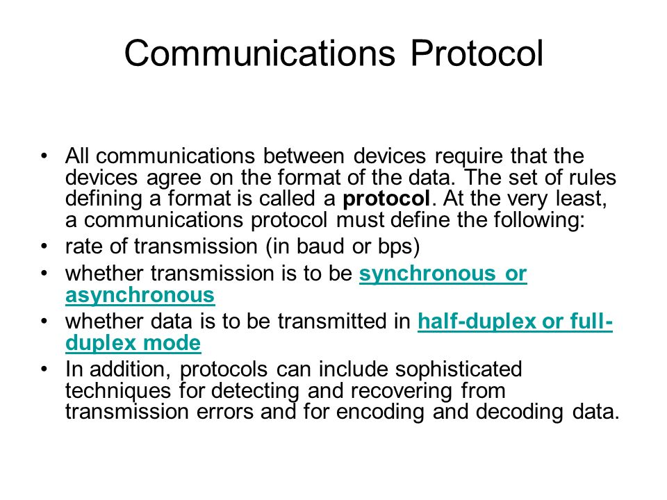 User Datagram Protocol (UDP) –Does not establish a connection, just sends messages.