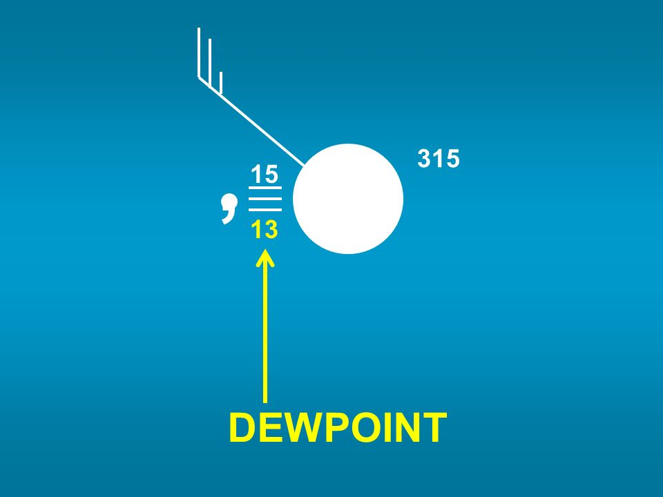 15 13, DEWPOINT 315