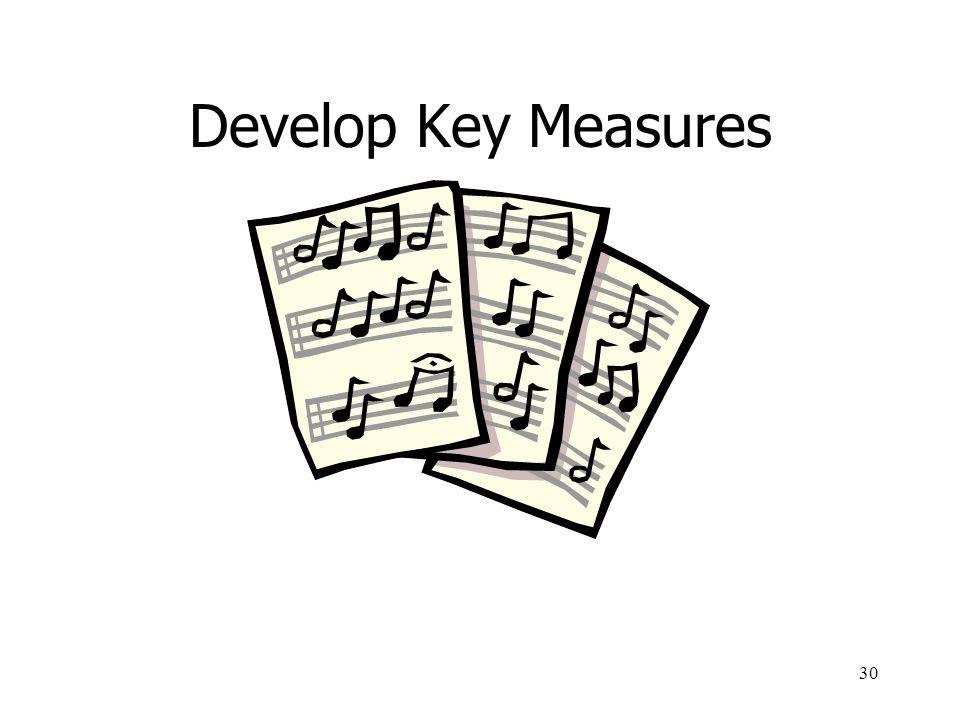 30 Develop Key Measures
