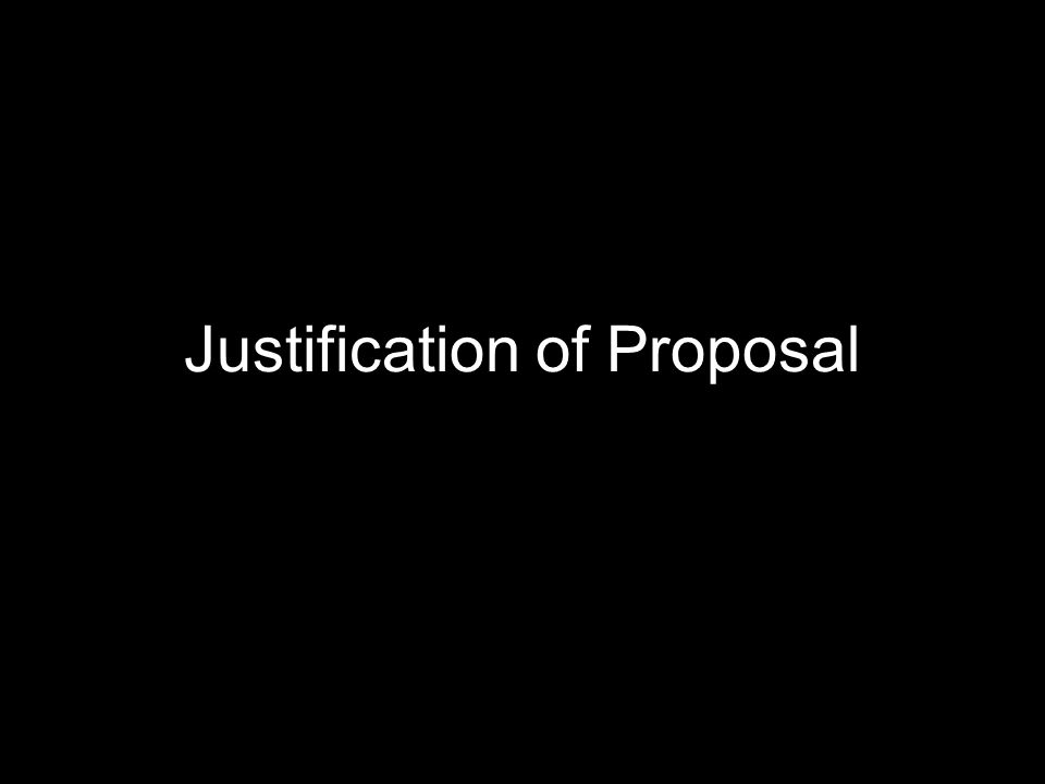 Emma Christian Justification of Proposal