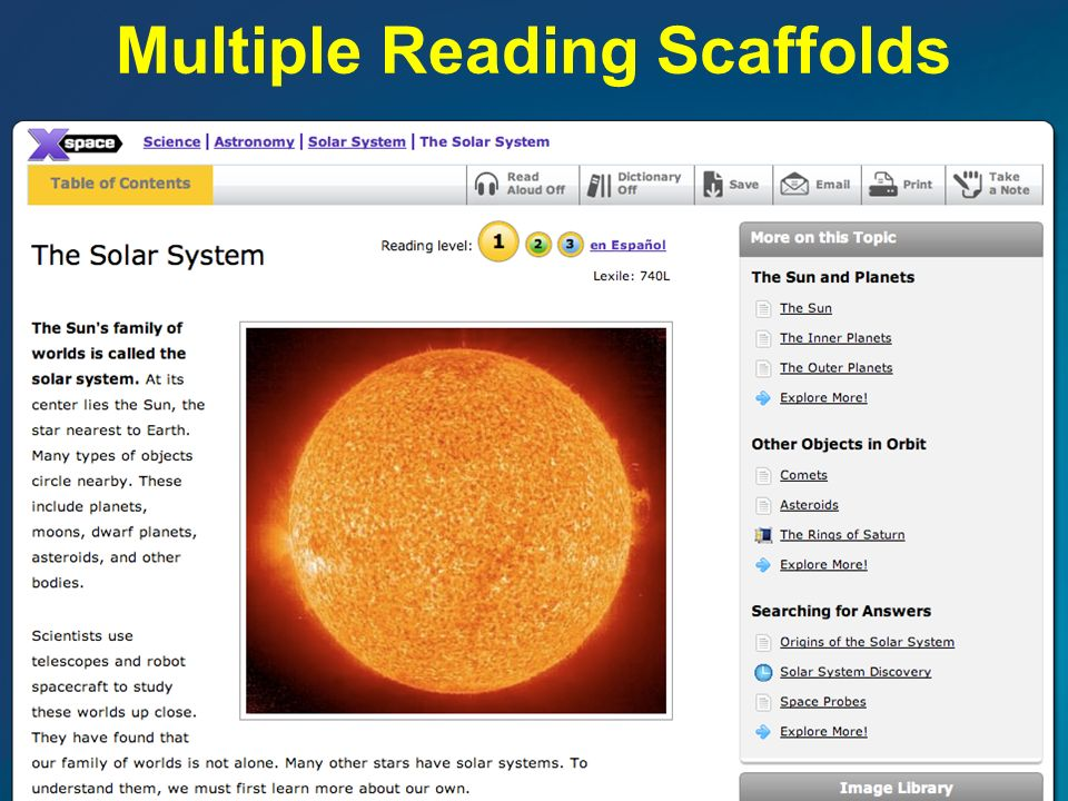 Multiple Reading Scaffolds