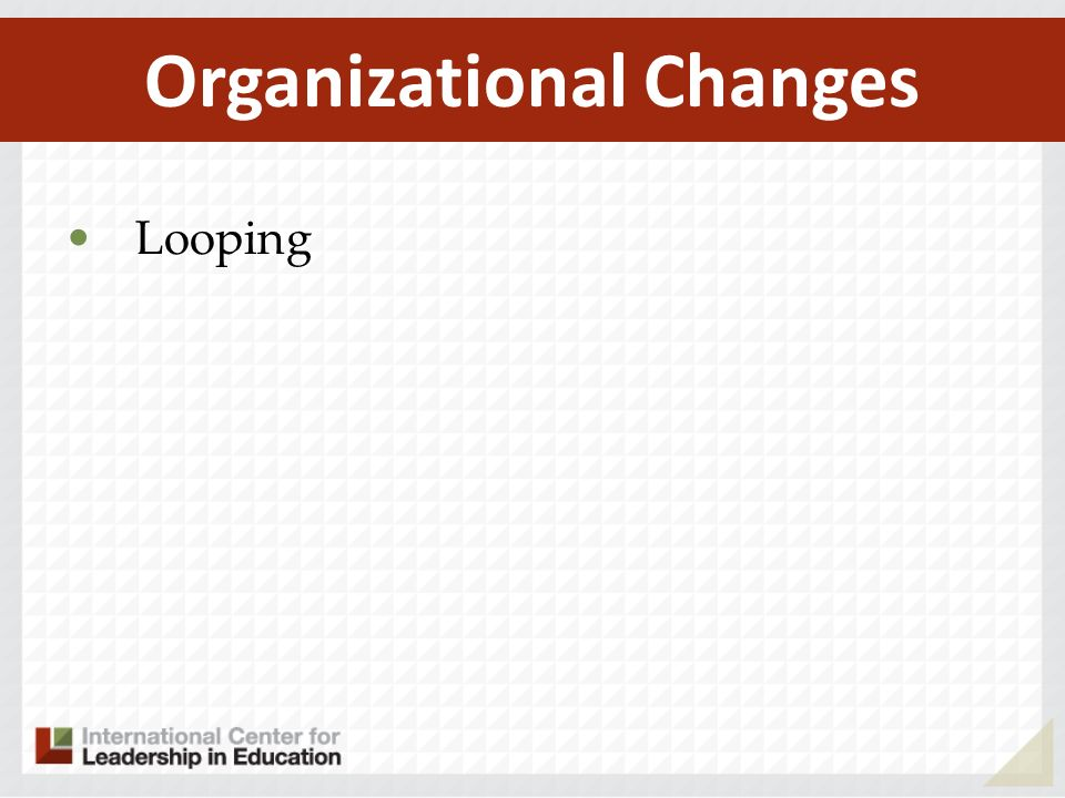 Looping Organizational Changes