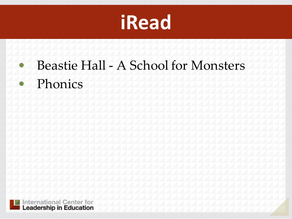 Beastie Hall - A School for Monsters Phonics iRead