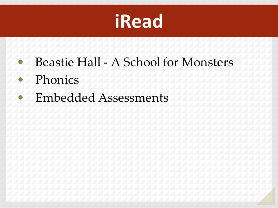 Beastie Hall - A School for Monsters Phonics Embedded Assessments iRead