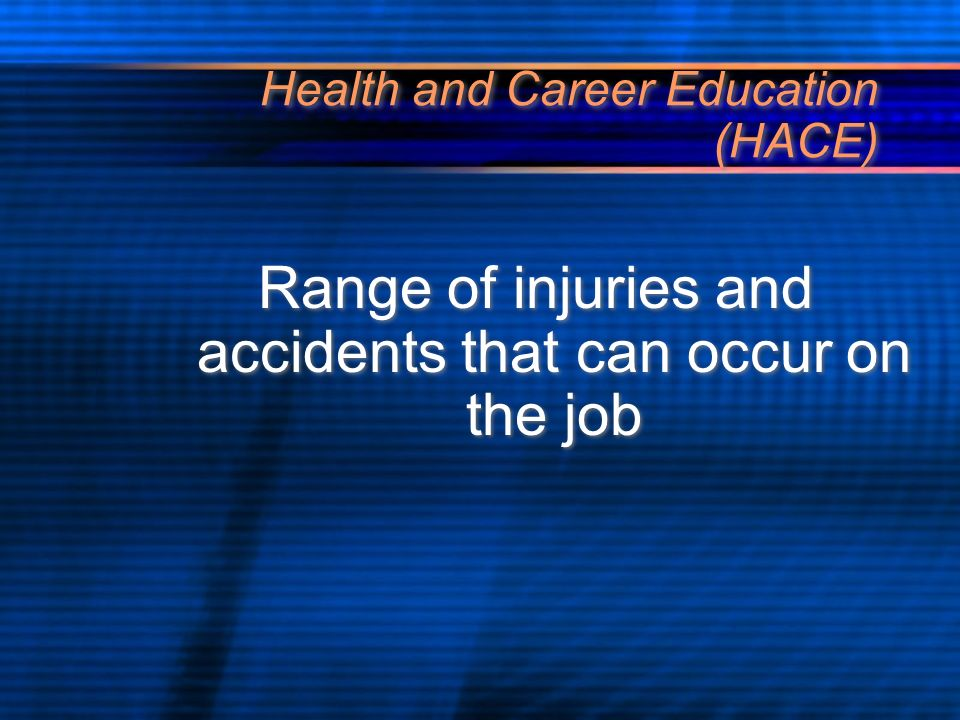 Health and Career Education (HACE) Using safe and personal protective equipment