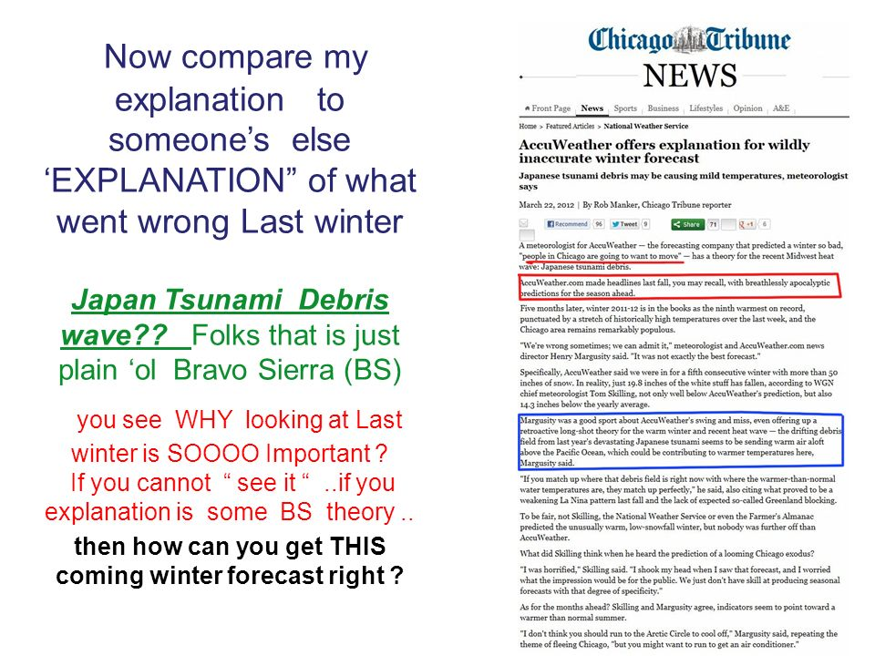 Now compare my explanation to someones else EXPLANATION of what went wrong Last winter Japan Tsunami Debris wave?.