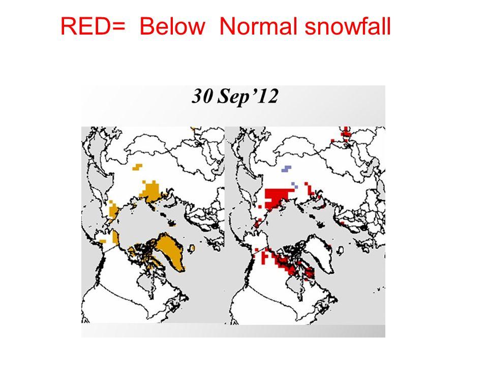 RED= Below Normal snowfall