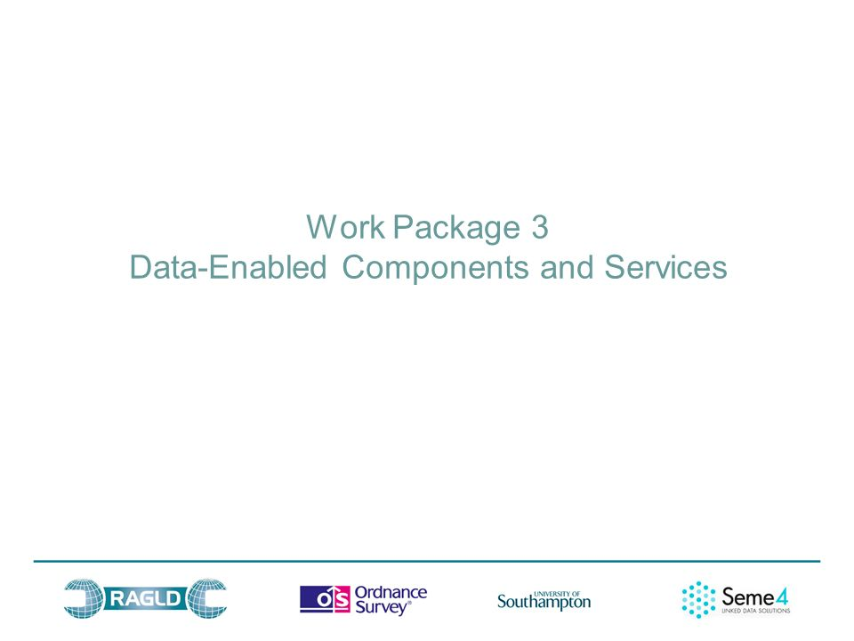 Work Package 3 Data-Enabled Components and Services