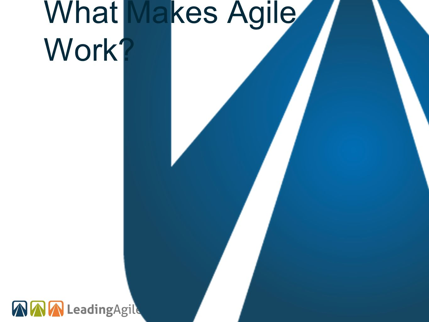 What Makes Agile Work?