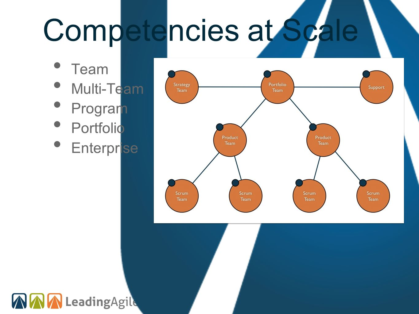 Competencies at Scale Team Multi-Team Program Portfolio Enterprise