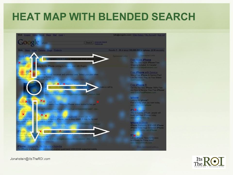 Jonahstein@ItsTheROI.com HEAT MAP WITH BLENDED SEARCH
