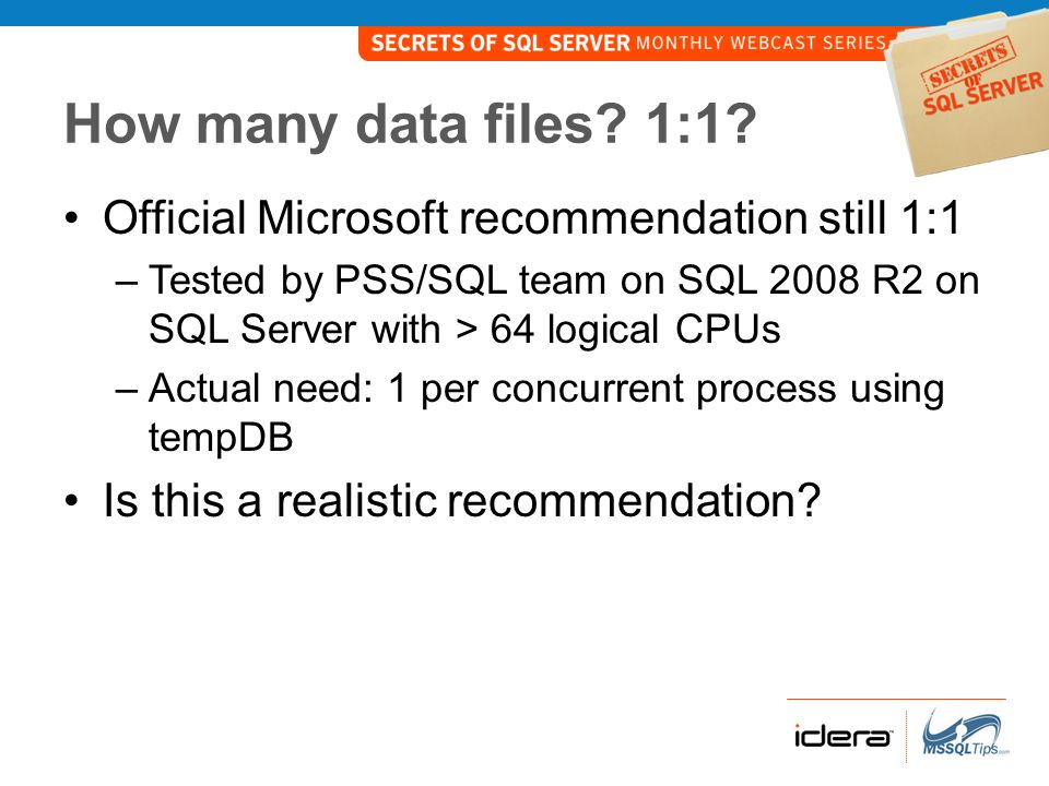 How many data files, really.