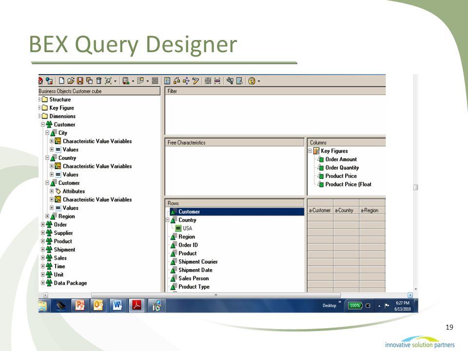 19 BEX Query Designer
