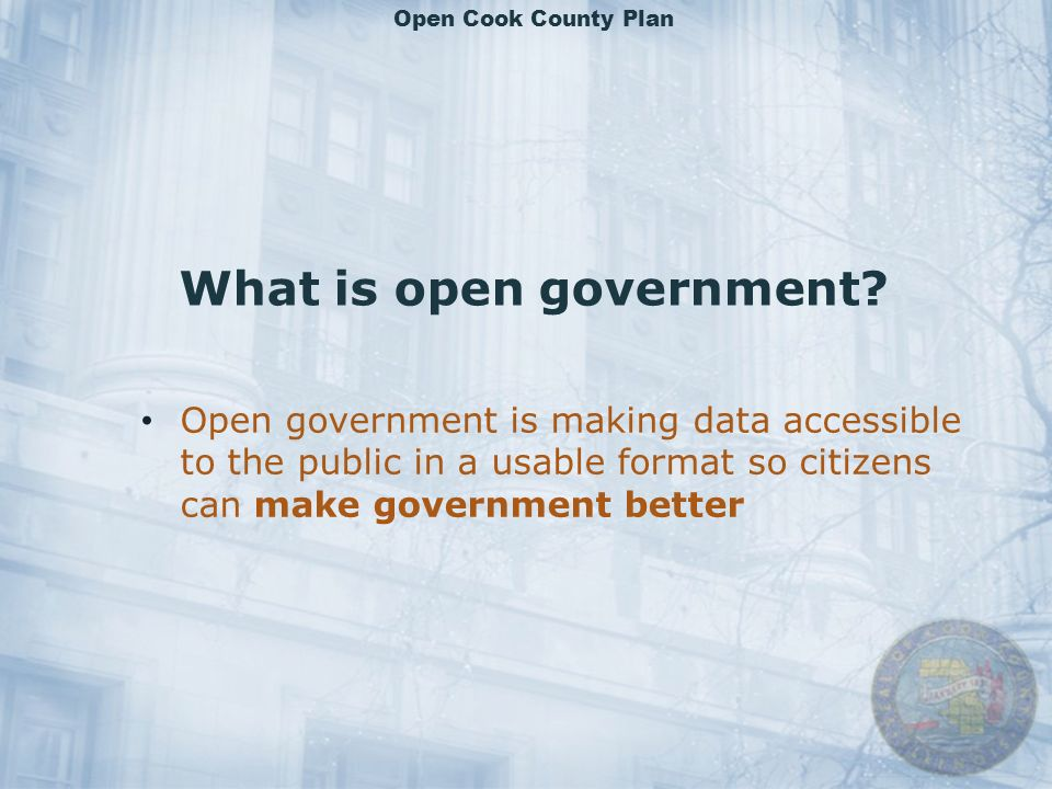 What is open government.