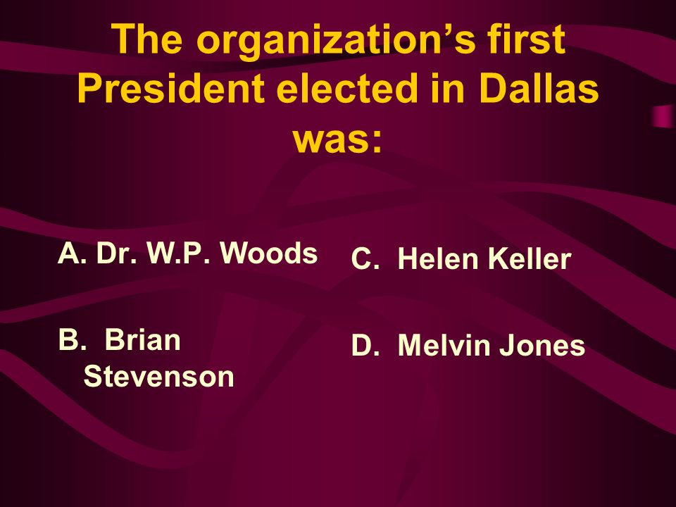 Answer: The first National Convention of Lions Clubs was held in Dallas, Texas in October of 1917 with 36 delegates representing 22 clubs from 9 states.