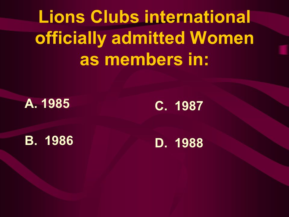 Answer: Helen Keller addressed the Lions at the International Convention in 1925 held in Cedar Point, Ohio, challenging the Lions to become knights of the blind in the crusade against darkness.