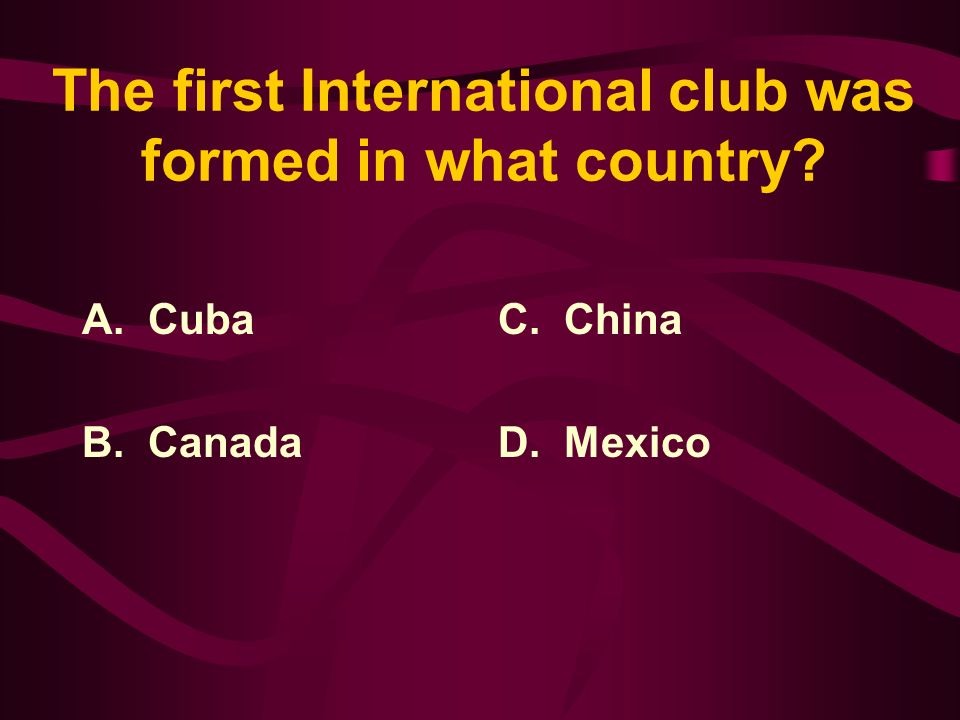 Answer: Even though women were not officially excluded at the very beginning, Lions Clubs International became the first service club to admit women as members in 1987.
